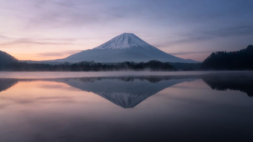 Mt. Fuji over Lake Shoji